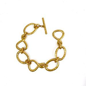 RLL Ralph Lauren Bracelet Goldtone Links Toggle
